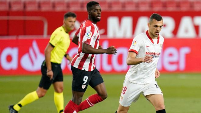 Duelo entre el Sevilla y Athletic de este lunes.