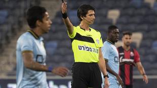 Sapir Breman, en acción durante un partido de la Primera División de...