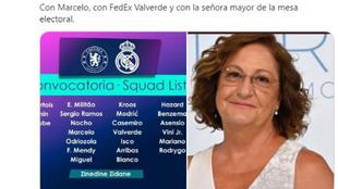 Un tuit de La Sexta mete a la señora que ayudó a Marcelo en la convocatoria del Madrid... y la red se llena de memes