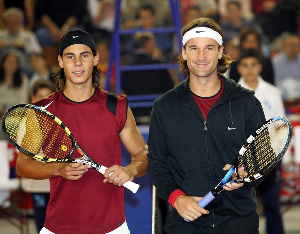 Rafa Nadal y Carlos Moyá.