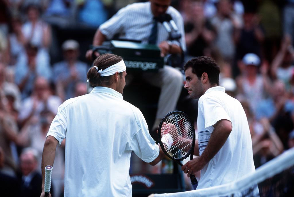 Roger Federer and Pete Sampras.