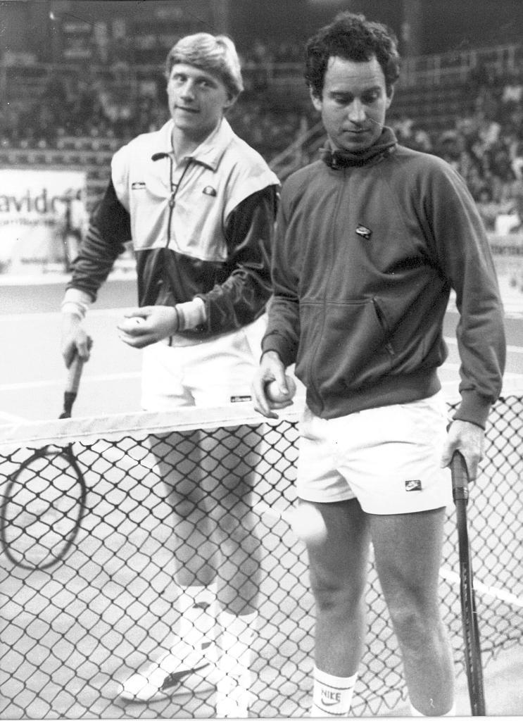 Boris Becker and John McEnroe.