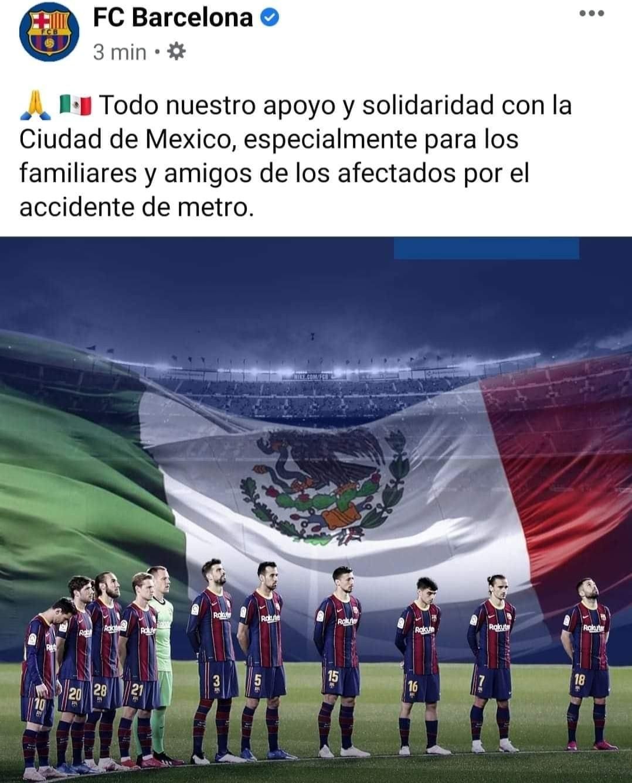 El mensaje de solidaridad del Barcelona