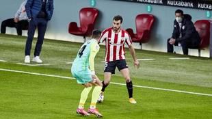 Lekue, en un partido con el Athletic.
