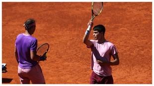 Alcaraz and Nadal.