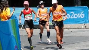 Mari Carmen Paredes y su guía Lorenzo Sánchez, en Río 2016.