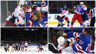 NY Rangers y Washington Capitals arrancaron su partido con una triple...