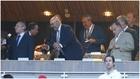 Foto de archivo de Florentino Pérez y Javier Tebas, en un palco en...