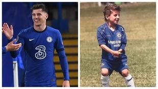 A la izquierda, Mason Mount celebra su gol al Madrid. A la derecha, de...