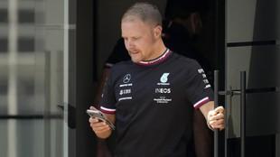 Valtteri Bottas, el jueves en el circuito de Montmeló.