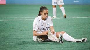 Inés Juan, durante un partido esta temporada.