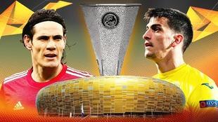 Manchester United y Villareal, finalistas de la Europa League.