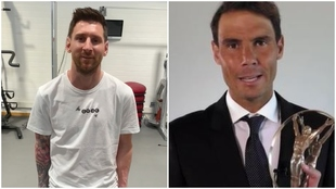 Montaje con Leo Messi y Rafa Nadal