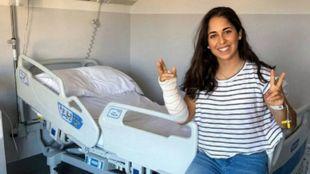 María Herrera, en la clínica iQtra de Madrid.