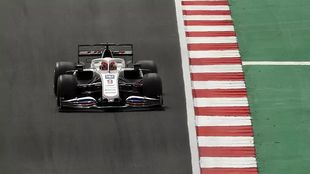 Mazepin at the Spanish GP