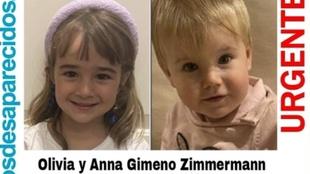 Imágnes de Olivia y Anna que las fuerzas de seguridad del estado...