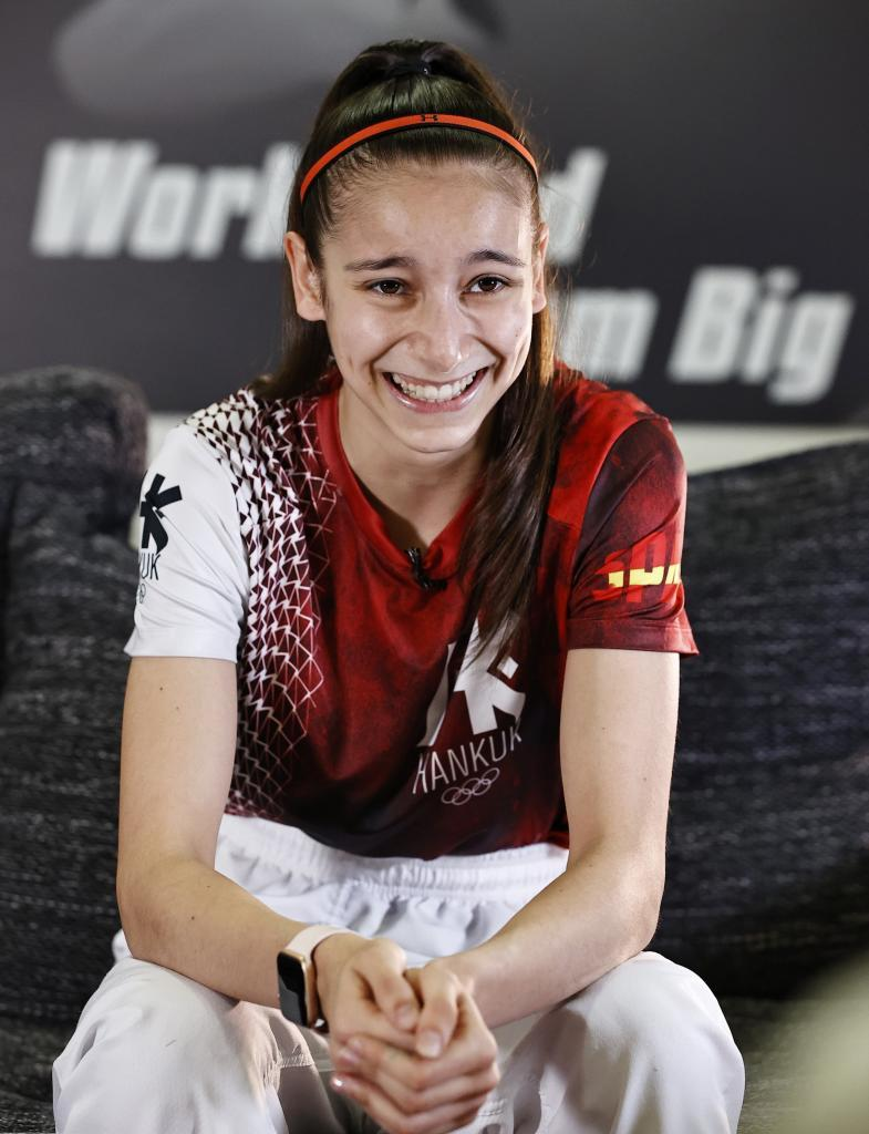 Adriana Cerezo, durante una entrevista con MARCA.