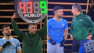 El momento en el que eñ cuarto árbitro se equivoca con el número...