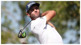 Adri Arnaus durante la tercera vuelta del Abu Dhabi HSBC Golf...