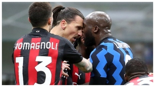 Ibrahimovic and Lukaku go head to head.