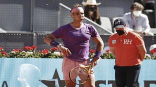 Nadal frustrated against Zerev.