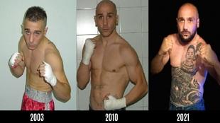 Las tres etapas de Alex Parra como boxeador