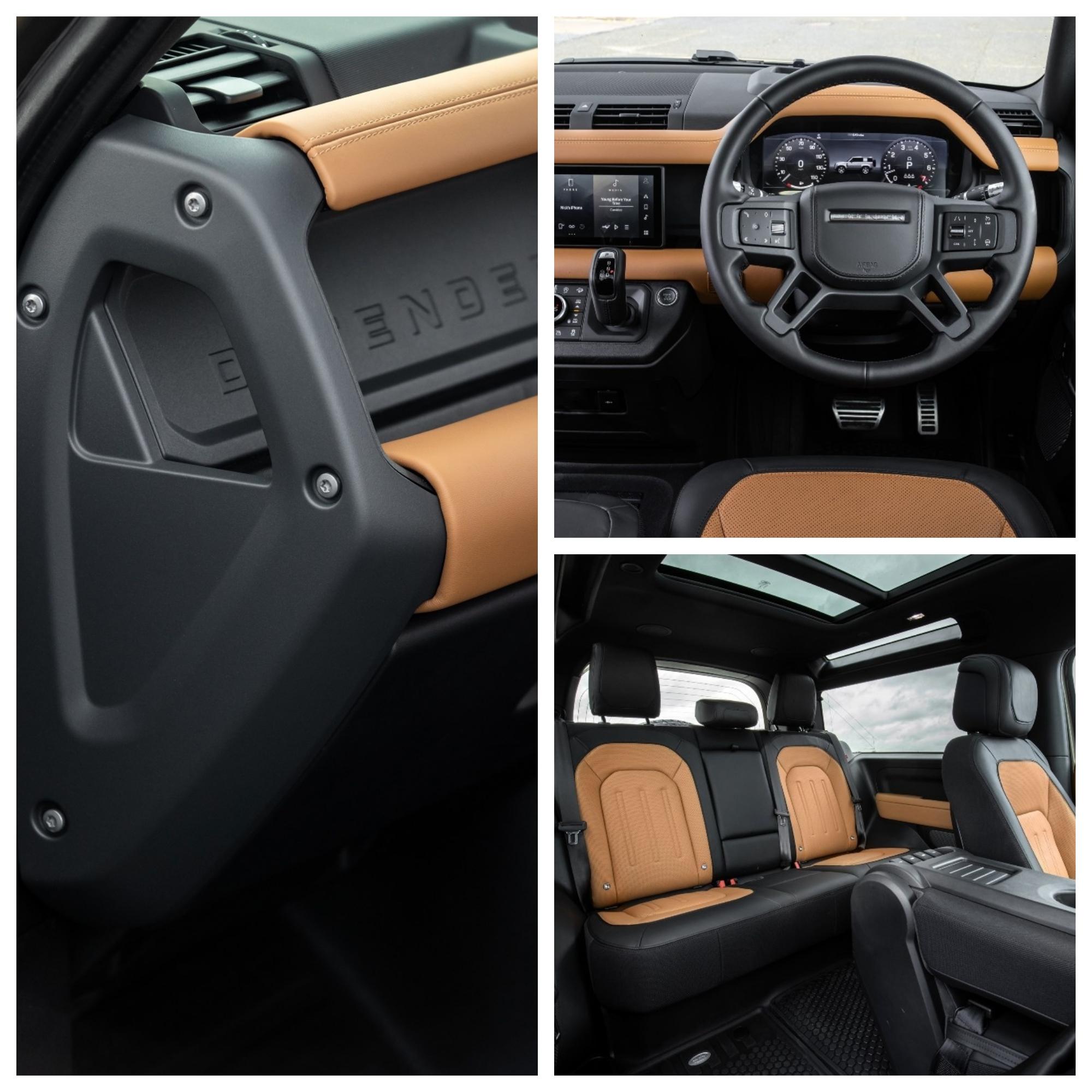 Land Rover Defender 90 - prueba - todoterreno - 4x4 - P400 - interior