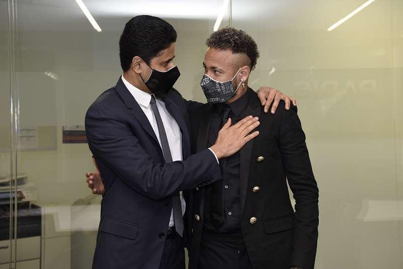 Neymar and Al-Khelaifi