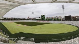 El estadio madrileño de Vallehermoso.