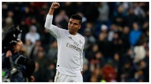Casemiro celenra la victoria del Real Madrid ante el Sevilla de la...
