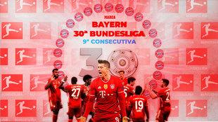El Bayern, campeón de la Bundesliga.