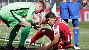Ter Stegen y Luis Suárez, en la jugada en la que el uruguayo pide...