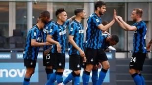 El Inter celebró su título con un triunfo ante la Sampdoria