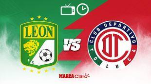 León vs Toluca, horario y dónde ver en vivo.