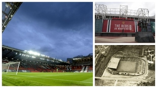 Un montaje fotográfico con varias imágenes de Old Trafford.