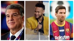 Laporta, Neymar y Messi