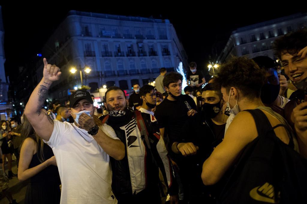 Imagen del fin del Estado de Alarma en Madrid