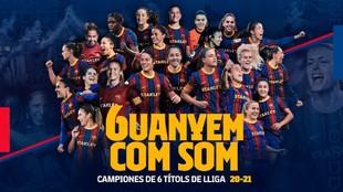 Creatividad del Barcelona campeón de Liga.