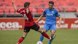 Jugada antrerior a que Javi Muñoz marcase su gol al Fuenlabrada.