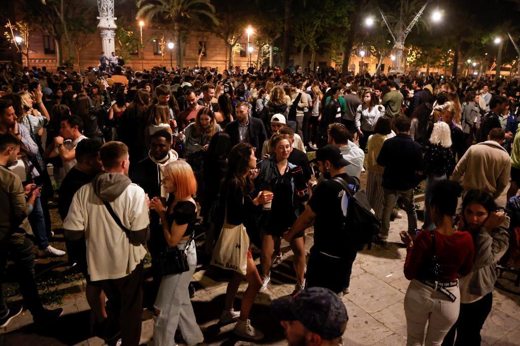 Imagen del fin del Estado de Alarma en Barcelona