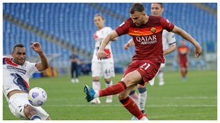 Borja Mayoral estrena su cuenta anotadora contra la Roma.
