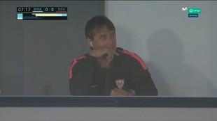 Captura del entrenador del Sevilla en Valdebebas.