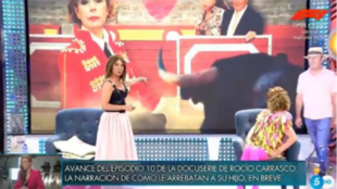 """María Patiño alertando deque hay """"humo"""" en el plató de..."""