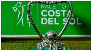 El trofeo que distingue a la ganadora de la Race to Costa del Sol.