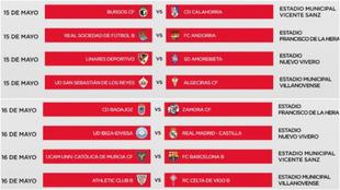 Ascenso Segunda Division - Equipos, cruces, emparejamientos y...