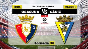 Osasuna Cadiz Liga - Donde ver TV Horario Canal Partidos Futbol hoy