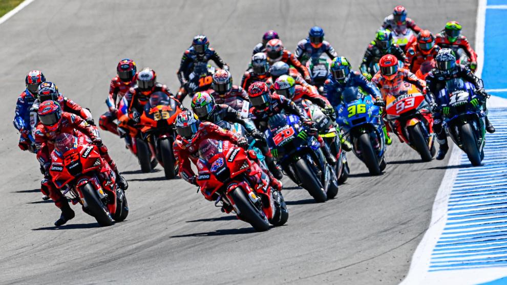 La salida del GP de España 2021 celebrado en Jerez.