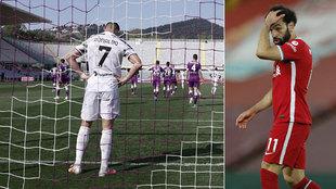 Cristiano Ronaldo and Salah