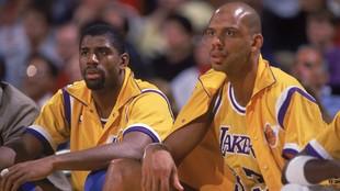 Magic Johnson y Kareem Abdul-Jabbar, dos de los mayores iconos de la...