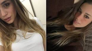 Luana D'Orazio, en dos imágenes de su cuenta de Instagram